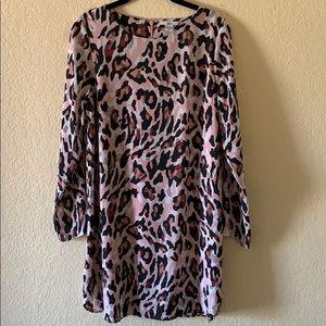 Bar III Print Pink & Black Dress